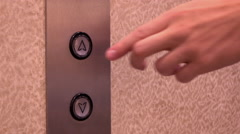 Elevator up arrow turns blue after being pressed 4k Stock Footage