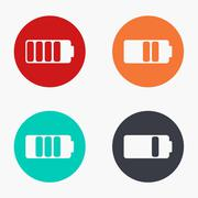 Stock Illustration of Vector modern battery colorful icons set