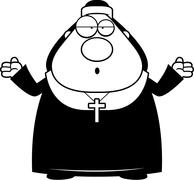 Confused Cartoon Nun Stock Illustration