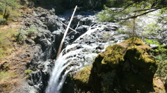 Englishman River Falls Provincial Park On Vancouver Island Stock Footage