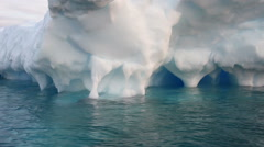 Large Icebergs in Antarctica Stock Footage