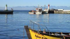 Fishing Boats returning to Port. Stock Footage
