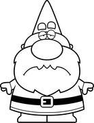 Cartoon Sad Gnome Stock Illustration
