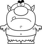 Cartoon Angry Goblin Stock Illustration