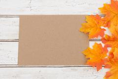 Blank Card for your fall message Stock Photos