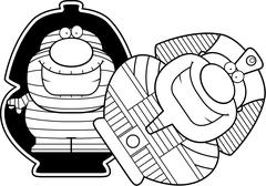 Cartoon Mummy Sarcophagus Stock Illustration