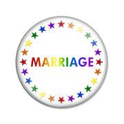 Same-sex Marriage Button - stock illustration