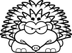 Angry Little Hedgehog - stock illustration
