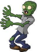 Zombies people cartoon funny - stock illustration