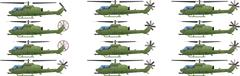 Helicopter action Stock Illustration