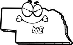 Cartoon Angry Nebraska - stock illustration