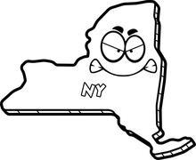 Cartoon Angry New York Stock Illustration