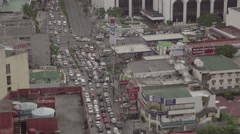 Afternoon Rush Hour in Metro Manila, Philippines Stock Footage