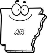 Cartoon Arkansas - stock illustration