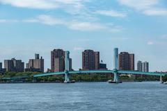 Ward Island Pedestrian Bridge, NYC - stock photo