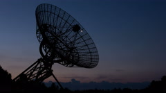 Westerbork Radio Telescope, Moonrise - Sunrise Time-lapse, 4K Stock Footage