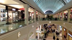 Shopper inside Metropolis shopping mall Stock Footage