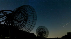 Westerbork Radio Telescope, Astro Time-lapse, 4K - stock footage