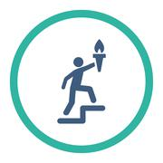 Leader icon - stock illustration