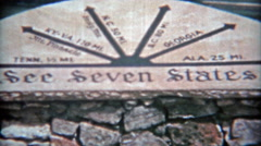 1957: See these seven states: Tennessee,Kentucky,Georgia,Alabama,Virginia,North - stock footage