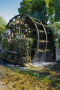 Water wheels in Provence, France Stock Photos