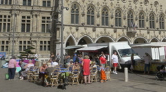 Weekly market - Arras France Stock Footage