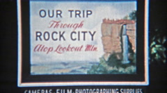 1957: Rock city atop Lookout mountain rope bridge hiking destination. Stock Footage