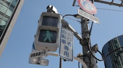 Traffic light in Ginza district, Tokyo, Japan Stock Footage