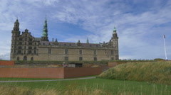 Exterior of Kronborg Castle - Helsingor Denmark Stock Footage