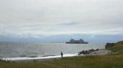 Beach at Kronborg Castle - Helsingor Denmark Stock Footage
