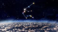 11 Aquarius Horoscope space - stock illustration