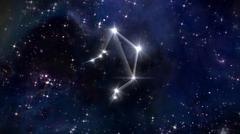 7 Libra Horoscope star white - stock illustration