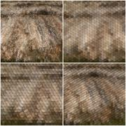 Dry straw texture. Collection of abstract multicolored backgrounds. Natural Stock Illustration