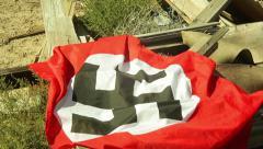 Nazi destroyed bunker destruction building 1 Stock Footage