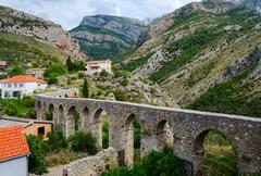 Aqueduct in the Old Bar, Montenegro Stock Photos