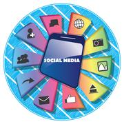 Social media infograph Stock Illustration