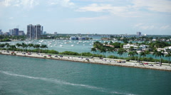 Miami Caribbean aerial 4 Stock Footage