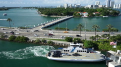Miami Caribbean aerial 6 Stock Footage