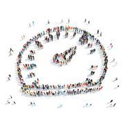 group  people  shape speedometer - stock illustration