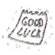 group  people  form  good  luck - stock illustration