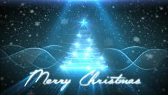 Christmas Greetings Card - Blue style - stock footage