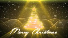 Christmas Greetings Card - Yellow style - stock footage