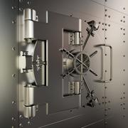 Closed bank vault Stock Illustration