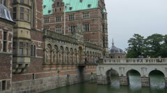 Bridge leading to Frederiksborg Castle - Hillerod Denmark Stock Footage