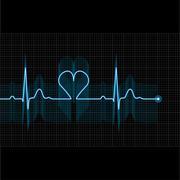 Illustration of medical electrocardiogram - ECG - stock illustration