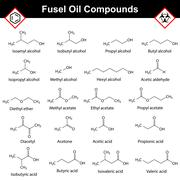 Organic compounds of fusel oil - stock illustration