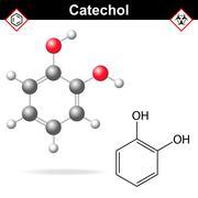 Catechol molecule Stock Illustration