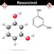 Resorcinol structure Stock Illustration