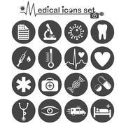 Medical icon set - stock illustration