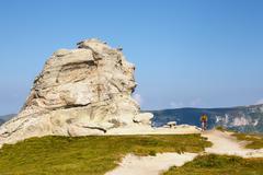 Geomorphologic rocky structures in Bucegi Mountains, Romania - stock photo